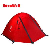 Snowwolf outdoor hiking tent double layer aluminum  four seasons