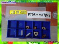 Free shipping lathe tool Plating titanium carbide blade 8mm/7pcS Turning tool  cutter