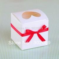 Heart Shaped Window single PVC cupcake boxes