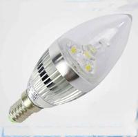 3W 4W E14  E27 LED candle light / bulb lamp  Free shipping