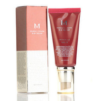 Wholesale korean missha makeup SPF42 PA+++ bb cream 21# , 23# nude natural makeup concealer cream 50ml sunblock free shipping