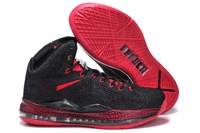Free Shipping lebron 10 Black True Red Cork QS sportwear 2013 for sale Cheap X EXT Elite basketball mens lbj us8-13