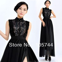 2014 New Arrive ladies dress free shipping women's designer high quality summer long dresses plus size promotion S,M,L,XL 82011