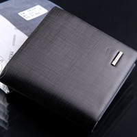 M17 2014 Brand hot selling standard wallets for men , the genuine leather men's fashion purse wholesale