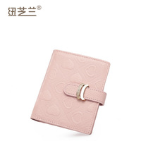 Women's genuine leather short wallet design card holder first layer of cowhide fashion embossed vertical general wallet