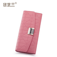 2013 first layer of cowhide wallet female long design card holder genuine leather women wallet