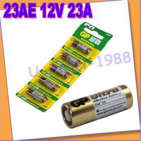 Free shipping+ 10pcs/lot  ultra alkaline battery Batterie 23AE 12V 23A for door sensor remote