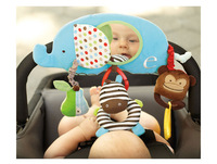 SKP  Alphabet Zoo Stroller Bar Activity Toy, baby soft crib hanging toys with mirror