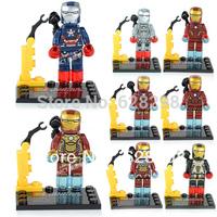 Withou Box 2013 NEW 8pcs/lot mini figures iron Building Block Sets building bricks toys free shipping