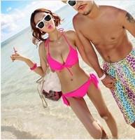 Sportscenter neon color small steel push up swimwear mimi big bikini hot spring swimsuit  biquini for women bikini 2014 new