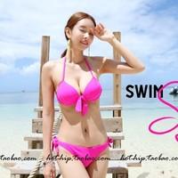 2013 swimwear solid color bikini twinset size push up swimwear female steel  biquini for women bikini 2014 new