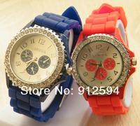 Wholesale Diamond Geneva Silicone Watches