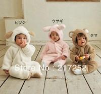 baby romper lovely Animal romper winter warm romper Fleece autumn warm baby bodysuits