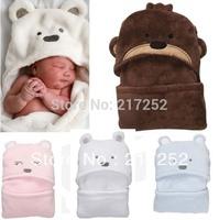 2013 Hot Free shipping coral fleece newborn kids baby blanket boy&girl toddler cartoon bear sleeping bag autumn and winter