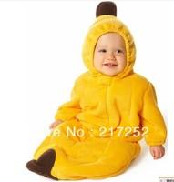 2013 hot sale baby Sleeping bag lovely banana sleepsacks winter warm romper Fleece autumn warm baby bodysuits