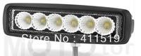 cheap shiping 2pcs x18w 4x4 spot beam f;ood  rear light offroad ,industry  arriculture light led light bar
