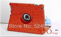 10Colors Smart Cover For iPad air Rotating Magic Girl Case, For New iPad Air Ipad 5 Cover Case,Free Shipping