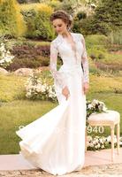New Style White/ivory Lace Long Sleeves Wedding Dress Custom All Size