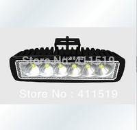 cheap shiping  6.3 inch  30 pcs x18w 4x4 spot beam f;ood  rear light offroad ,industry  arriculture led light bar