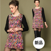 Plus size basic shirt female thickening 2013 autumn and winter fashion slim turn-down collar top thermal slim hip women's long