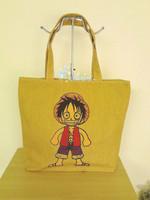 Eco-friendly thick canvas bag shopping bag casual bag shoulder bag