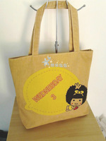2014  The new arrival Personalized print canvas bag nappy bag shopping bag single shoulder bag Free shipping