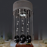 2013 crystal pendant lamp stair lamp restaurant lamp pendant light ball lamp circle living room crystal lamp