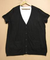Fashion 100% cotton loose short-sleeve sweater cardigan extra large female plus size clothing