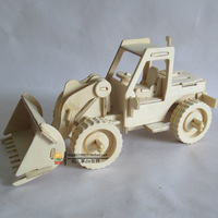 Wool 3d puzzle mining machine above 10 years old wooden assembling navvies model boy intelligence toys