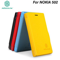 NILLKIN Fresh Series Leather Case for Nokia Asha 502 and retailed package.Free shipping