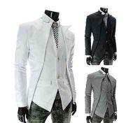 Mens Premium Slim Fit Casual Dress Cotton long Sleeve Blazer Jackets