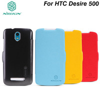 Original Genuine NILLKIN Slim Flip Leather Fresh Case Skin Back Cover for HTC Desire 500 (506E) Free Shipping