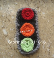 100 pieces/lot  100%cotton DIY crochet accessory handmade  traffic light
