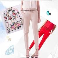 fashion European and American style women capris Slim pencil pants Long Pants  famous brand pants skirt  for women