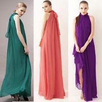 Q . e 30259 ultra long autumn and winter stand collar bridesmaid plus size dress banquet formal dress full dress jumpsuit