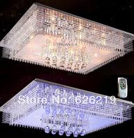 L60*W40 remote control  Modern led crystal brief ceiling light living room lights restaurant lamp rectangle lamps