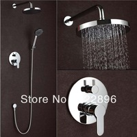 Brass Bathroom Shower Faucets Rain Shower Set ABS Shower Hotels Bath Hot & Cold Mixer Wall Tap Torneira Chuveiro Banheiro Ducha