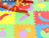 Educational Fruits EVA Play mats Baby Crawling mats 30cm*30cm 10pcs/lot for Christmas gift Free shipping