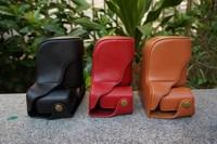 Classical camera bag PU leahter case for Fujifilm X-M1 xm1 camera case bag