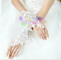 39pair fashion hollow acrylic diamond lace bride gloves wedding gloves hook finger gloves fingerless bridesmaid banquet gloves