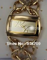Top qualiy Luxury  brand quartz watch women men fashion Chain link dress wristwatch free shipping