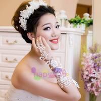 9 pair free ship fashion hollow lace bride gloves wedding gloves hook finger gloves fingerless bridesmaid banquet gloves