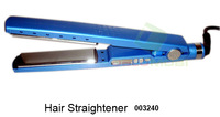"2014 NEW Hot Sale Retail Titanium Ceramic Hair Straightening Flat Iron 1 1/4"" PRO Nano Drop shipping Blue"