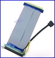 PCI-E PCI Express 16X to 16X Adapter Converter Riser Card Extender Flexible Extension Cable w/ Molex 4 Pin Power Connector