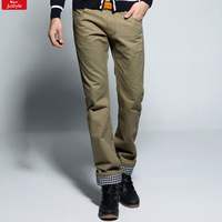 2013 male fashion stripe patchwork 100% cotton straight casual pants trousers