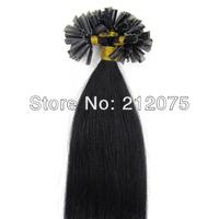 "12""-26""inches 3sets/lot Mix length Keratin Nail Tip U-Tip human hair extension *Brazilian virgin straight hair*Free shipping"
