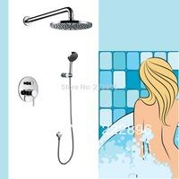 Free Shipping Bathroom Shower Faucets Lanos ABS Rainfall Shower Set Bath Mixer Wall Tap Torneira Chuveiro Banheiro Ducha