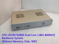 Mini PC 3.5 inch ATOM  N2800MT dual core CPU  Fanless Industrial PC HTPC Desktop  Barebone System (displace android tv box)