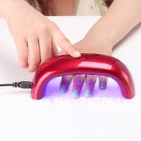 Nail Art Tools, Rainbow LED light therapy machine, LED lighting small Mini nail art equipment, suitalbe for nail polish glue