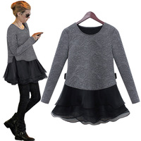 2013 autumn and winter women's boutique fashion autumn long-sleeve twinset one-piece dress